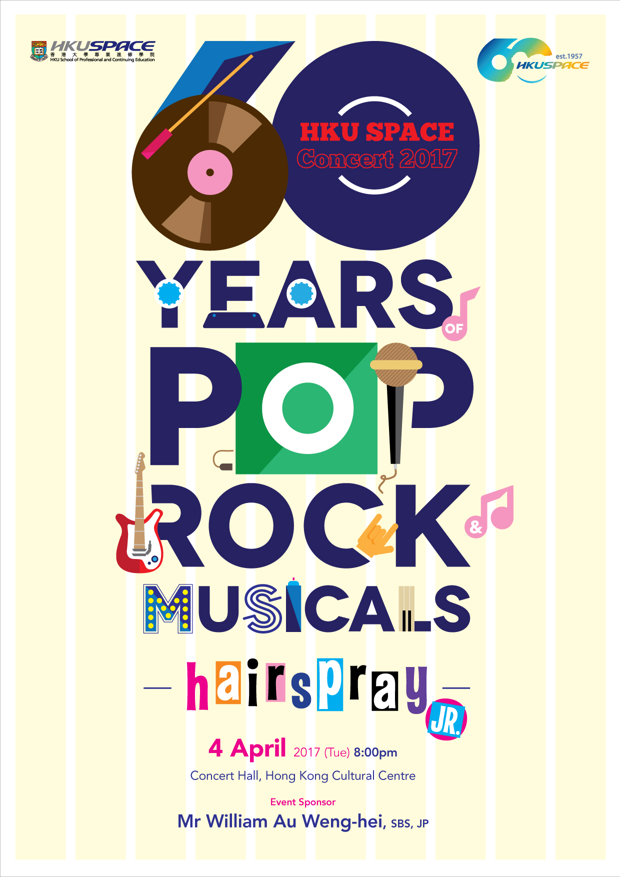 Annual School Concert: 60 Years of Pop, Rock & Musicals
